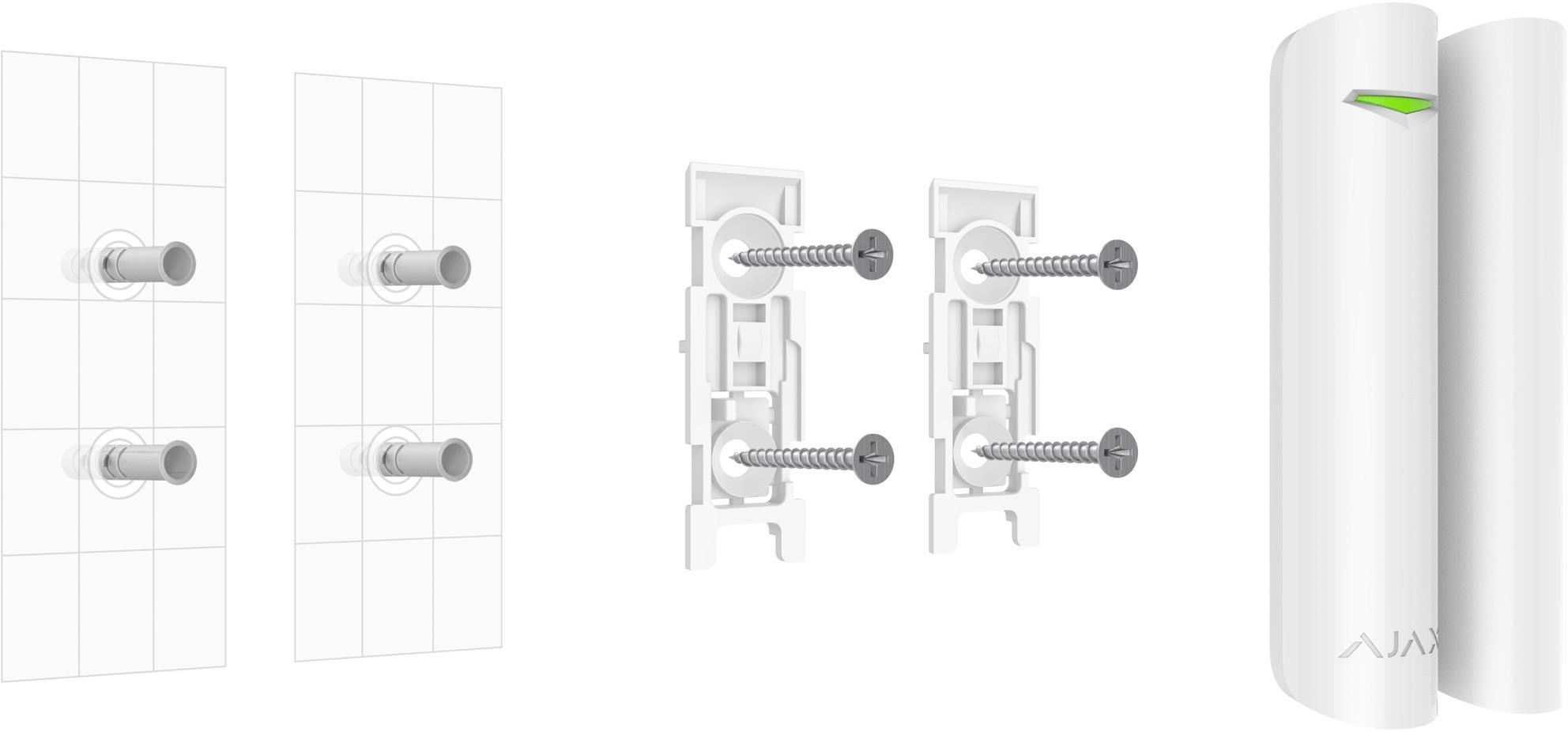 Installation du détecteur d'ouverture sans fil Ajax DoorProtect