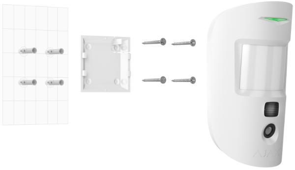 Installation du détecteur de mouvement avec vidéo Ajax MotionCam