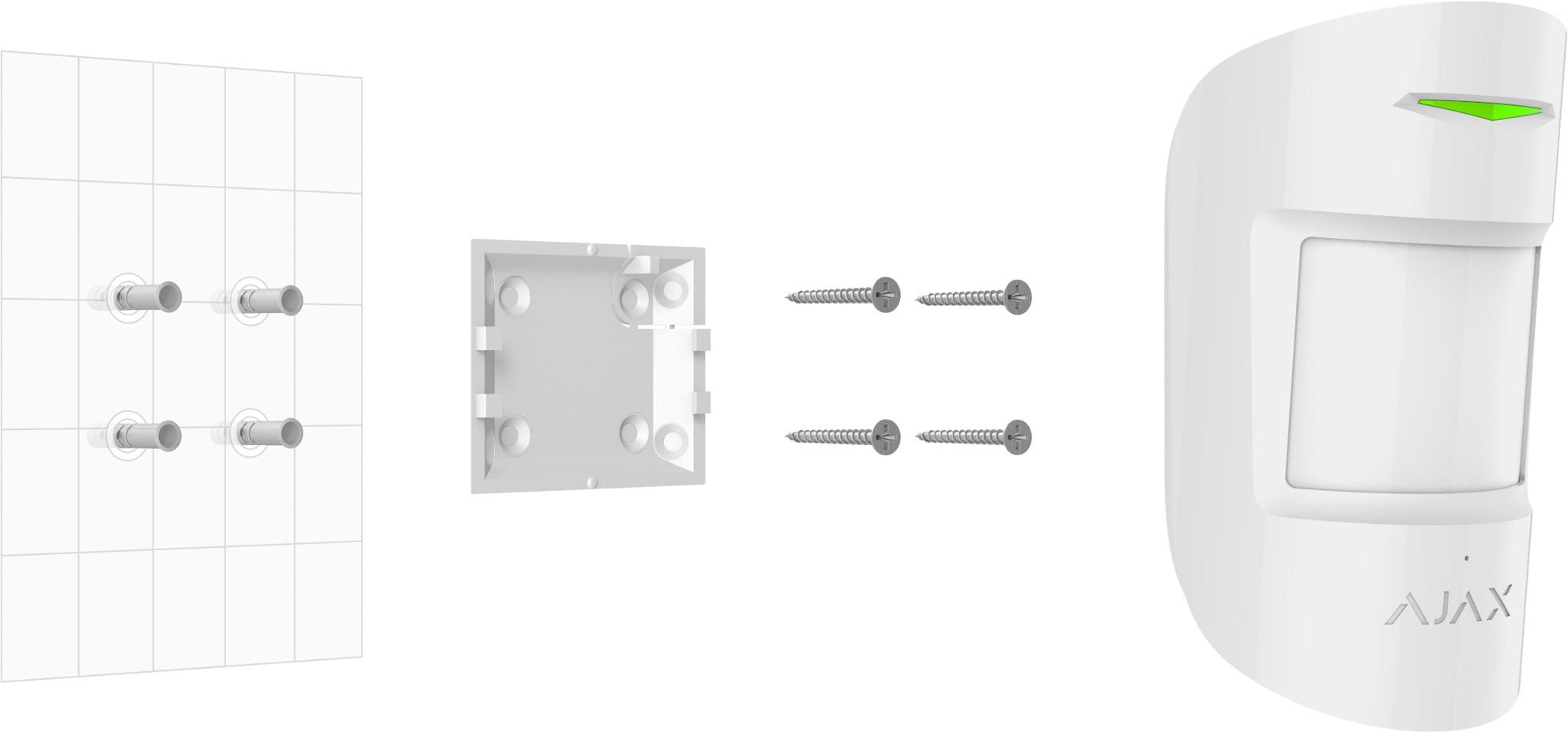 Installation du détecteur de mouvement sans fil Ajax CombiProtect
